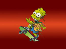 halloween zombie background zombie wallpaper skateboarding zombie the simpsons wallpaper