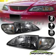ebay mustang headlights 1994 1995 1996 1997 1998 ford mustang smoke headlights corner