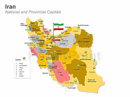 map or iran iran powerpoint map editable ppt
