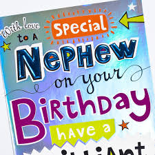 birthday card special nephew bold design only 99
