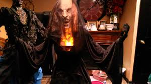 Halloween Witch Props Spirit Halloween Black Widow Flaming Witch Prop Youtube