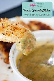 cuisine plus dijon panko crusted chicken recipe with honey dijon dip hello creative