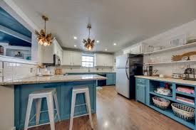 dream kitchen kitchen blue cabinets dark bottom cabinets white