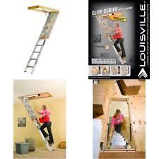 louisville ladder aa229gs elite aluminum attic 350 pound capacity