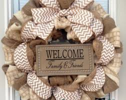 burlap wreaths winter burlap wreath etsy