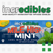 incredibles edibles incredibles mile high mint bar 100mg frosted leaf federal