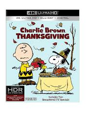 amazon com a charlie brown thanksgiving 4k ultra hd blu ray