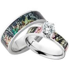 his and camo wedding rings his and hers cz camo wedding ring set free shipping camokix