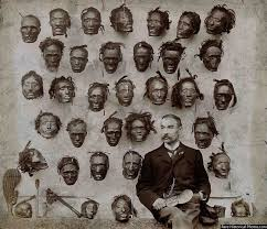major general horatio gordon robley with his collection of