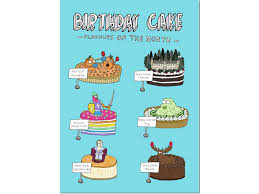 birthday cakes card u2013 hello lemon awesome greeting cards