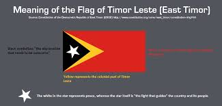 White Flag Meaning Meaning Of The Flag Of Timor Leste East Timor Vexillology
