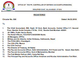 new 2015 orop pension table pcda circular 555 pdf download orop government staff news