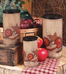 apple canisters for the kitchen apple themed home decor accessories accents