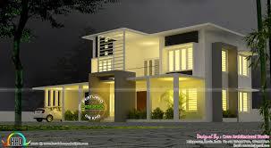 bedroom modern contemporary villa kerala home design and floor