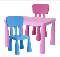 plastic table for guide for table and chairs kids home decor