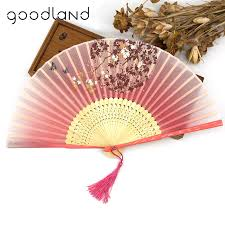 held fans for wedding free shipping wholesale 50pcs black bamboo trim hollow carved