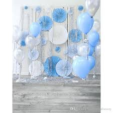 backdrops for 2018 vinyl backdrops for photography blue white balloons grey wood