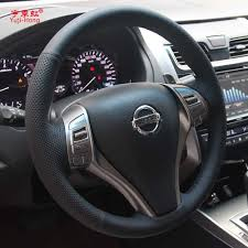 teana nissan 2010 yuji hong car steering genuine cow leather covers case for nissan