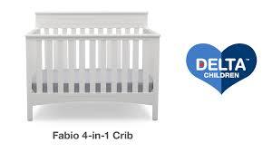 Delta Children Canton 4 In 1 Convertible Crib by Delta Children U0027s Fabio 4 In 1 Crib Vignette Youtube