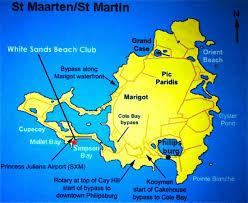 St Maarten Map White Sands Beach Club St Maarten