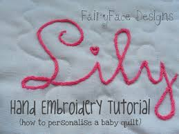 sewing letter templates fairyface designs hand embroidery tutorial how to personalise a hand embroidery tutorial how to personalise a baby quilt