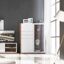 buffet cuisine design buffet blanc laqu fly meuble tv bois blanc et bois brut