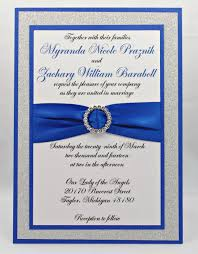 royal blue wedding invitations stunning royal blue silver glitter wedding invitation of