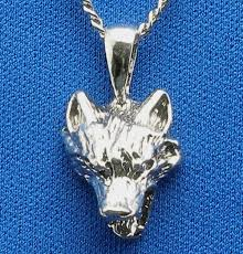 silver wolf pendant necklace images Sterling silver snarling lone wolf head necklace pendant hand jpg