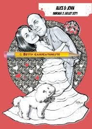 dessin humoristique mariage décoration mariage humoristique caricaturiste betty caricatures