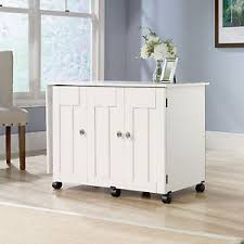 Craft Storage Cabinet New Sauder Sewing Craft Storage Cabinet Cart Table Soft White