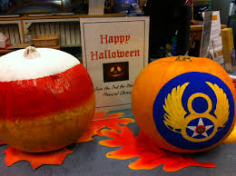 pumpkin decorating at the 2ad 2nd air division memorial library