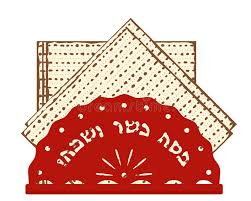matzo unleavened bread passover matzah unleavened bread stock illustration