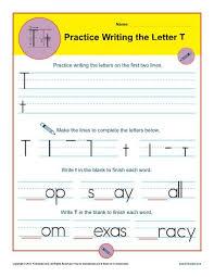 letter t worksheets printable handwriting worksheet