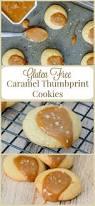 gluten free caramel thumbprint cookies