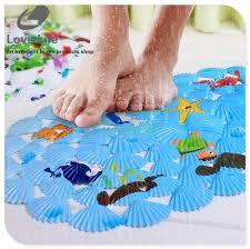 Fish Bath Rug Child Bath Mat Non Slip Fish Bathroom Mat Rug Badmat Animals Print