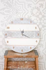 how to make a faux shiplap diy clock making it in the mountains