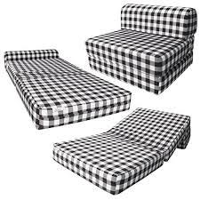 black u0026 white checkers sleeper chair folding foam bed sized 6