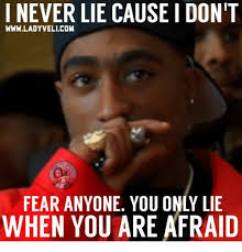 Lie Memes - i never lie causeidont wwwladyvelicom when you are afraid meme on