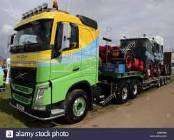 volvo tractor trailer green yellow blue volvo tractor unit articulated lorry unit