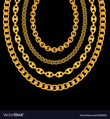 black gold necklace jewelry images Gold chain jewelry on black background royalty free vector jpg