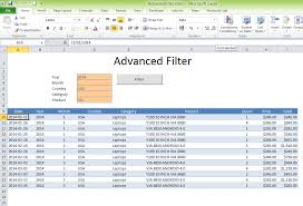 advanced filter excel template excel vba templates