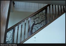 wood iron stair railing alaska ornamental iron