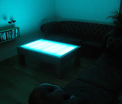 Light Up Drafting Table Illuminating Coffee Table The Awesomer