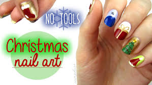 nail art for christmas the no tool guide youtube