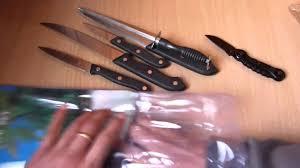 unboxing 7 pcs kitchen knife set from ebay india youtube