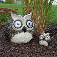 Owl Patio Lights by Solar Owl Accent Lights Mother And Baby Set Of 2 Smart Solar