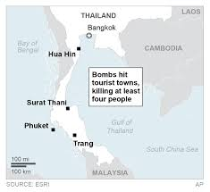 target gulf shores black friday map bombings in thailand target tourist cities killing 4 people