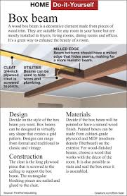 install a lightweight box beam on ceiling