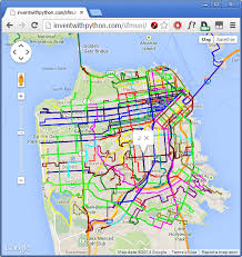 muni map let s create software tutorial routes overlaid on