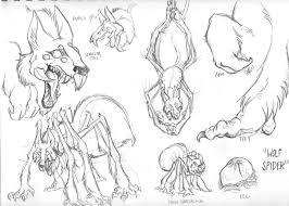 jack lope wolf spider sketch by lynxgriffin on deviantart
